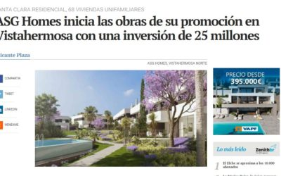 Vistahermosa Norte es noticia en Alicante Plaza por el inicio de obras de Santa Clara